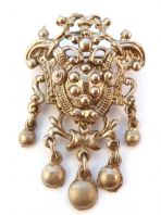 Vintage Jewelcraft Large Shield Heraldic style Brooch.